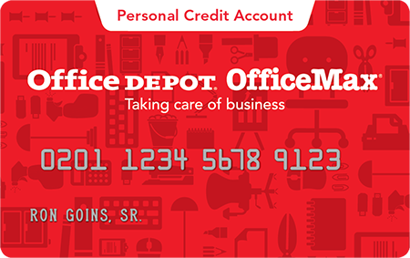Office Depot Personal Credit Card: Application Form